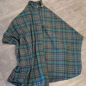 plaid tartan wool poncho